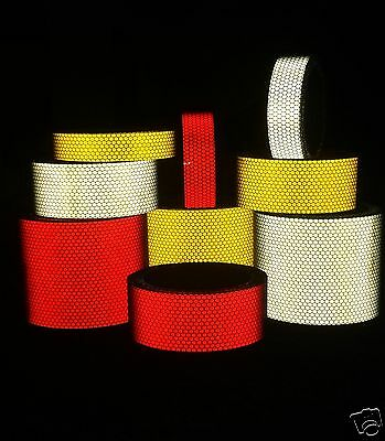 Reflective Tape Hi Intensity Self Adhesive - Choose Length Width Colour