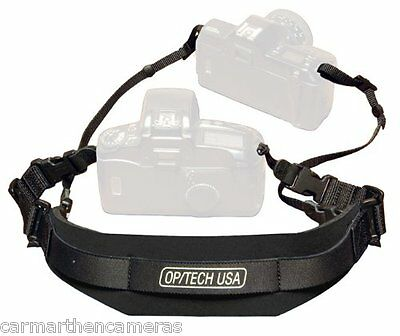 OP/TECH Reporter Strap for Camera - Black Optech