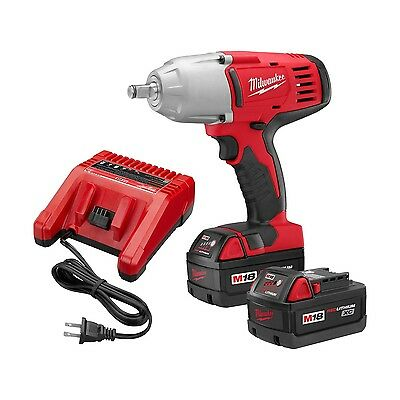 "Milwaukee 18 Volt 1/2"" High Torque Impact Wrench Kit w/ Hog Ring 2663-22 NEW"