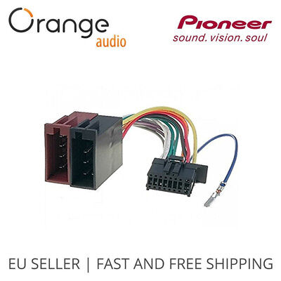 Pioneer New 16 Pin to ISO Lead Wiring Loom Power Adaptor Wire Radio Connector