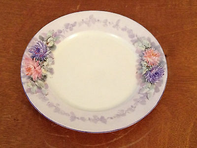 Antique Moritz Zdekauer Austria Porcelain Plate w Floral Decoration
