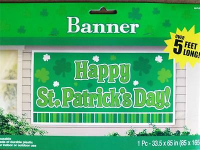 St Pattys Party Decoration/Prop~ST PATRICKS DAY BANNER~5ft Long~Scene Setter~NEW