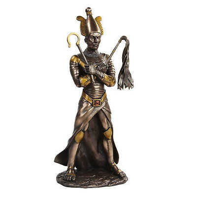Ancient Egyptian Decor Afterlife Underworld Osiris Faux Bronze Figurine Statue