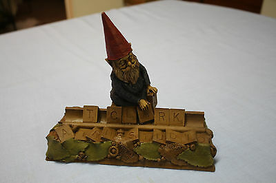 Retired 1992 Tom Clark Gnome Scrabble with Certificate of Authenticity