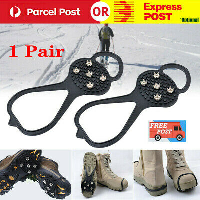 AntiSlip Ice Snow Men Shoes Spike Grip Crampons Grippers Rock Fishing Climbing