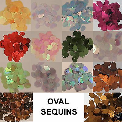 Sequins Ovals Loose Red, Lavender, Copper, Crystal Iris, Yellow, etc (~200 pcs.)