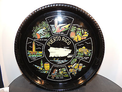 Puerto Rico Souvenir Serving Tray over 12 inches wide (6390)