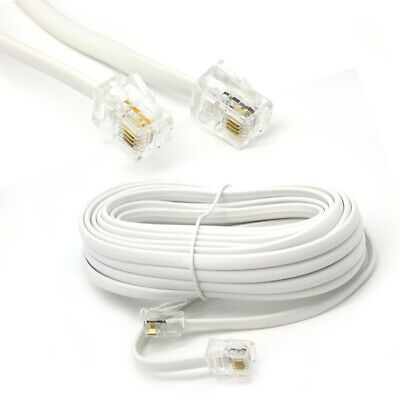 25m ADSL RJ11 to RJ-11 Cable Lead Wire for Use BT ADSL Broadband Router Modem