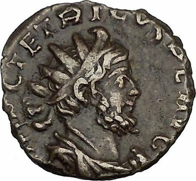 TETRICUS II with branch  & scepter 272AD  Ancient  Roman Coin RARE  i37197