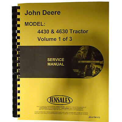 New Service Manual For John Deere Tractor 4430
