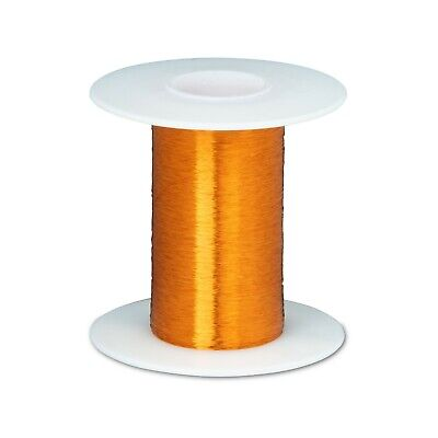 "42 AWG Gauge Heavy Formvar Copper Magnet Wire 4oz 12400' 0.0029"" 105C Amber"