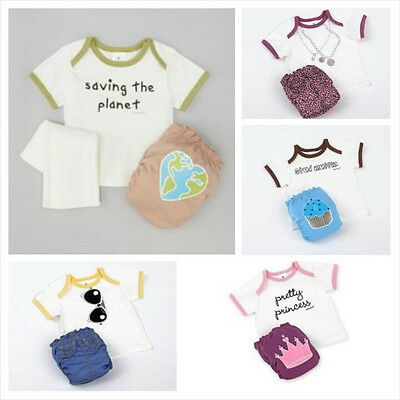 PERFECT BUM 3 Pc Set Lot~Cloth DIAPER Cover+Prefold Insert Liner+Tee~S/M/L~G