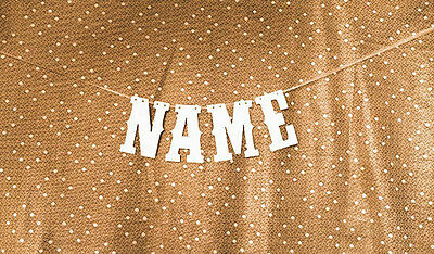 NAME Banner Party Decoration Bunting Garland Western Handmade