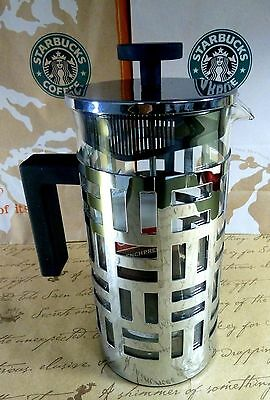 Unique*! STARBUCKS *BODUM FRENCH PRESS* 33.08 OZ* COFFEE MAKER 8 CUPS,NEW