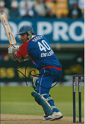 Michael YARDY Signed Autograph 12x8 Photo AFTAL COA England CRICKET Sussex