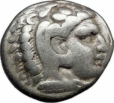 ALEXANDER III the GREAT 325BC Ancient Silver Greek Coin Hercules Zeus i37231