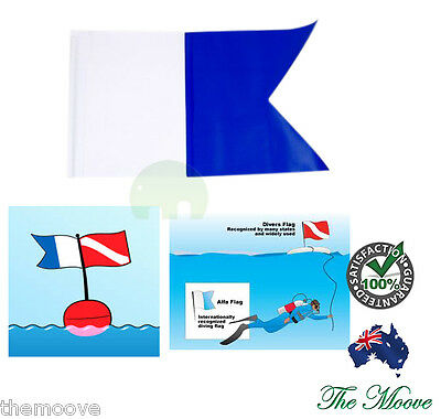 35cm x 50cm Large Scuba Diving Dive Boat Alpha Flag International Sign Free Ship