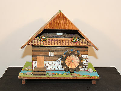 Wooden Waterwheel Mill Music Jewelry Box 5 inches tall  (6388)