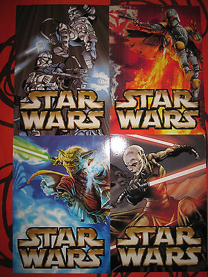 Star Wars Unleashed Complete Full Set (4) Promo Cards 2003 Jedi Con Postcards
