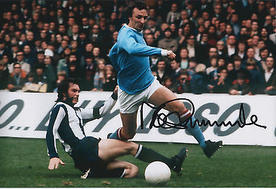 Mike SUMMERBEE SIGNED COA Autograph 12x8 Photo AFTAL Man City In Person