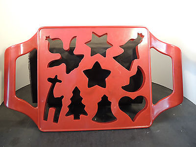 Plastic Red 9 Shapes Cookie Cutter (6401)