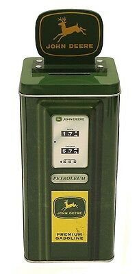 New The Tin Box Company John Deere Gas Pump Coin Bank