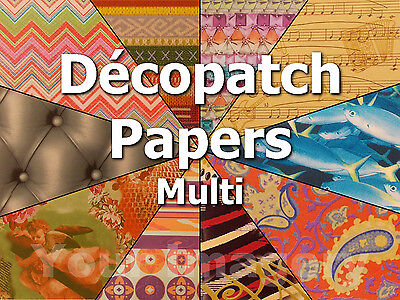 Decopatch Paper, Full Sheets, Choose from Many Varied Designs, Upcycle Decoupage