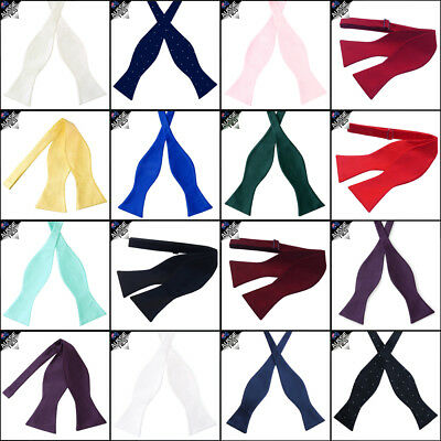 MENS SELF TIE BOW TIE self-tie your own CHOOSE COLOUR