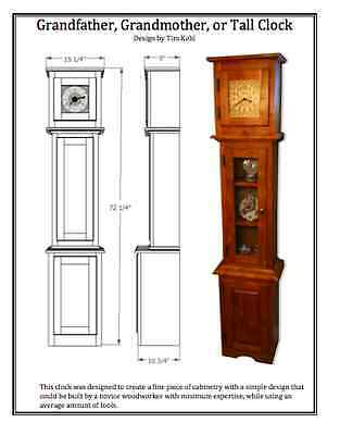 Woodworking Plans Grandfather Grandmother Tall Clock