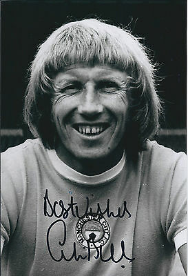 Colin BELL SIGNED 12x8 Photo AFTAL COA Autograph Manchester City Authentic RARE