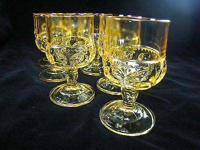 Colony Color Crown Topaz Yellow CLARET WIINE GLASSES FREE SHIPPING