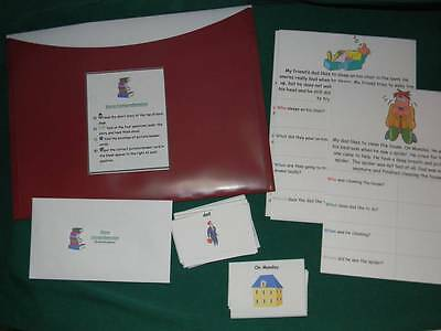 Story Comprehension- Teacher Made Educational Game, literacy center, classroom