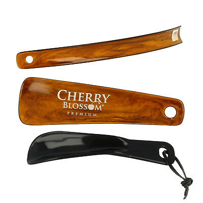 Brown short & long shoe horn by Cherry Blossom Retail £1.75 -£3.75