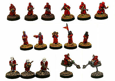 15mm Unpainted Sci-Fi Human Cultists-Hordes of The Future Minis Multi-Listing 1