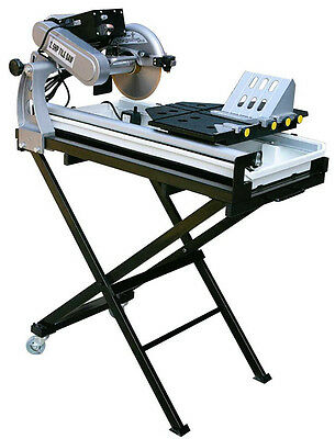 """27"""" Wet Tile Saw Brick Paver Saw Wet Cut Laser Guide w tray stands 2.5hp motor"""