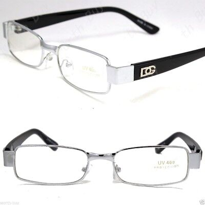 dg clear lens frames glasses rectangular fashion nerd nerdy mens womens eyewear