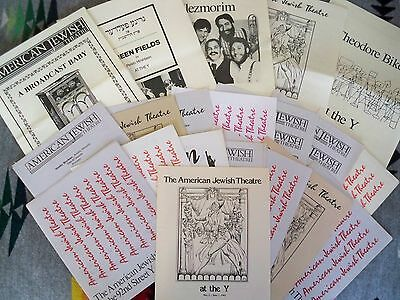 Lot Of 21 American Jewish Theatre Programs Nyc