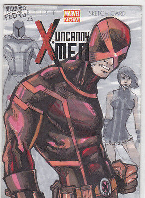 2014 Marvel Now sketch cover card Uncanny X-men Mauro Fodra