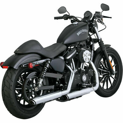 Colas De Escape Vance & Hines Twin Slash Chrome Para Harley Sportster '14-Up