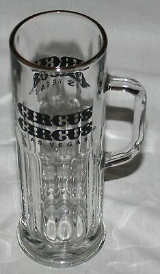 "Circus Circus Glass Mug Las Vegas Libbey USA Tall 9"" Nevada Casino"