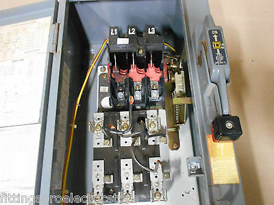 "Square D 8538 Scg13  30 Amp Size 0 Combination Starter Enclosure ""no Starter"""