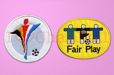 UEFA Euro Champions 2000 + Fair Play Football Sleeve Embroidery Soccer Patch