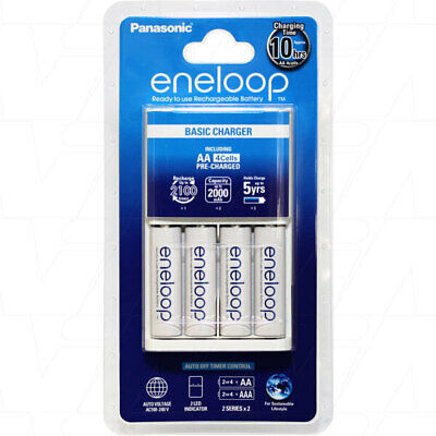 Panasonic ENELOOP 4 AA/AAA cell Basic Battery Charger including 4 x AA batteries