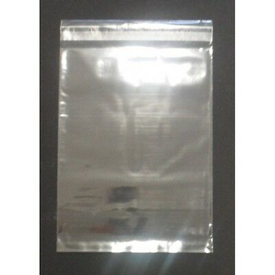 100 155mm W x 230mm H Clear Polypropylene Bags with Resealable Tape