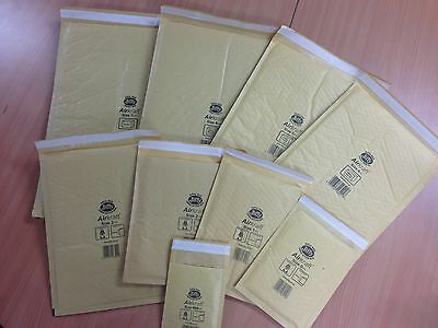 GENUINE 'GOLD' JIFFY BAGS ALL SIZES JL000 00 0 1 2 3 4 5 6 + 7 +ALL FREE 24h DEL