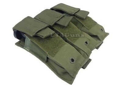 NcSTAR OD Green Triple MOLLE PALS Pistol Mag Magazine Pouch Holster M9 1911 9mm