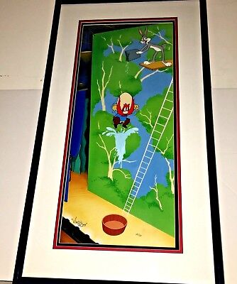 Bugs Bunny Yosemite Sam Warner Brothers Cel HIGH DIVING SAM  Signed Virgil Ross