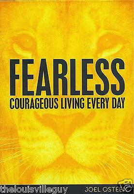 "Joel Osteen - ""Fearless - Courageous Living Every Day"" 2 CD/1 DVD Set - Awesome!"