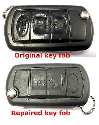 Repair service for Range Rover Sport 3 button remote flip key fob + new case