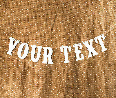 Tailor Made Personalized Text Banner Party Decoration Bunting Garland Handmade